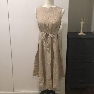 Korean Linen Sleeveless Mid-calf Long Dress